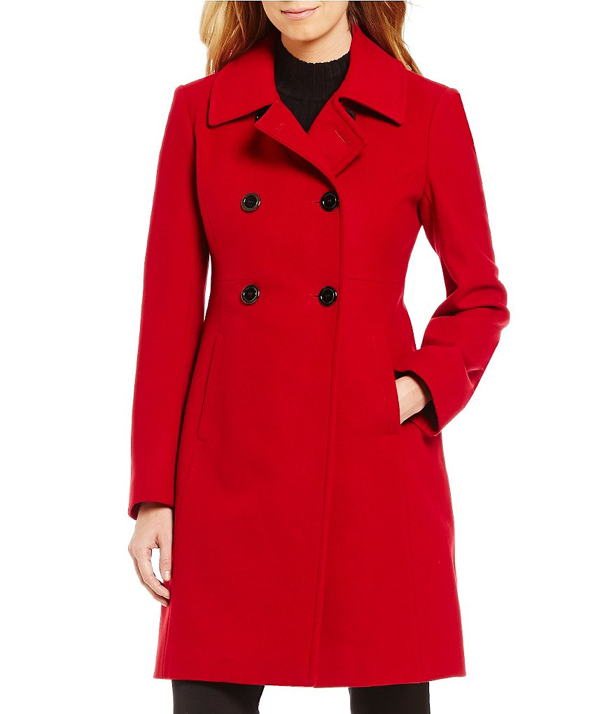 Preston and York Wool Princess-Seam Dress Coat