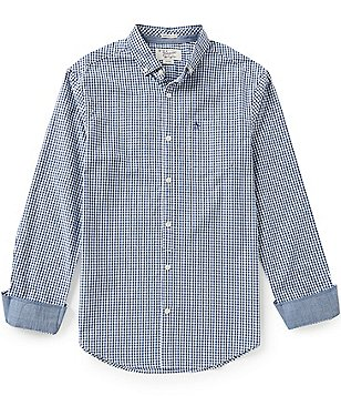 Original Penguin Contrast-Cuff Gingham Shirt