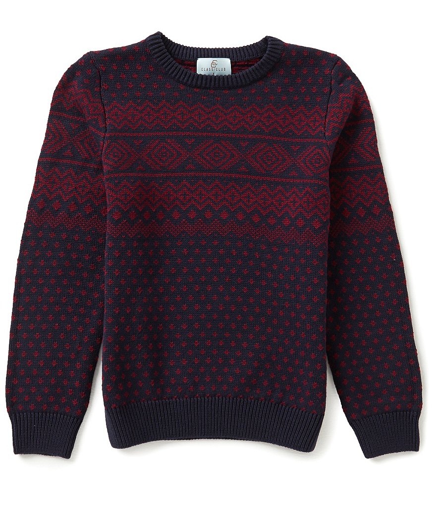 Class Club Big Boys 8-20 Fair Isle Sweater