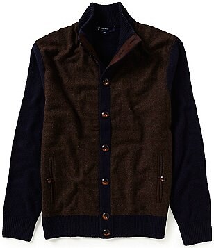 Cremieux Highland Peaks Collection Wool-Blend Herringbone Sweater