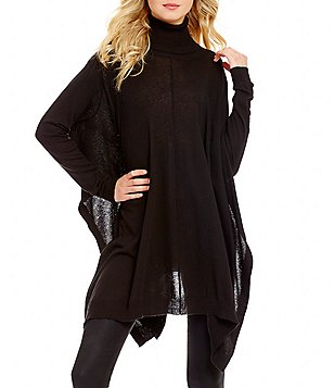 ELAN Turtleneck Long Sleeve Pullover Oversized Sweater