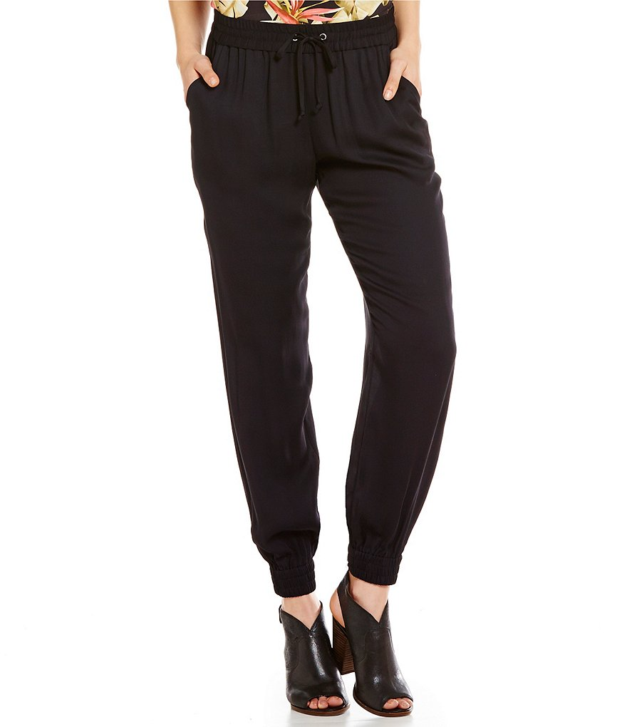 Tommy Bahama Kalei Drawcord Waist Solid Jogger Pants