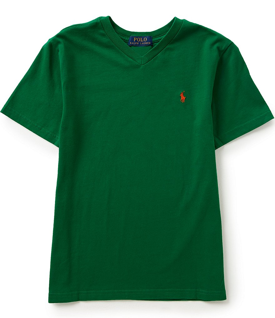 Ralph Lauren Childrenswear Big Boys 8-20 Short-Sleeve V-Neck Tee