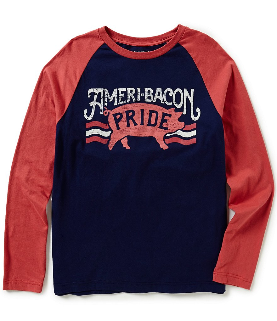 Cremieux Jeans Long-Sleeve Bacon Graphic Tee