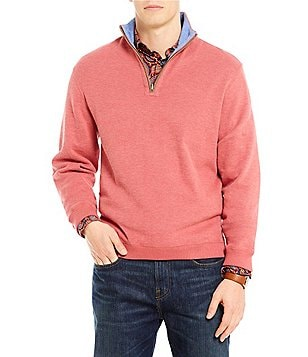 Cremieux Reversible Quarter Zip Long Sleeve Elbow Patch Pullover