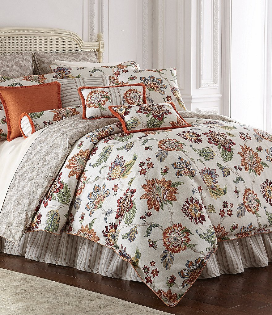 Rose Tree Lisburn Floral Jacquard Comforter Set Dillards