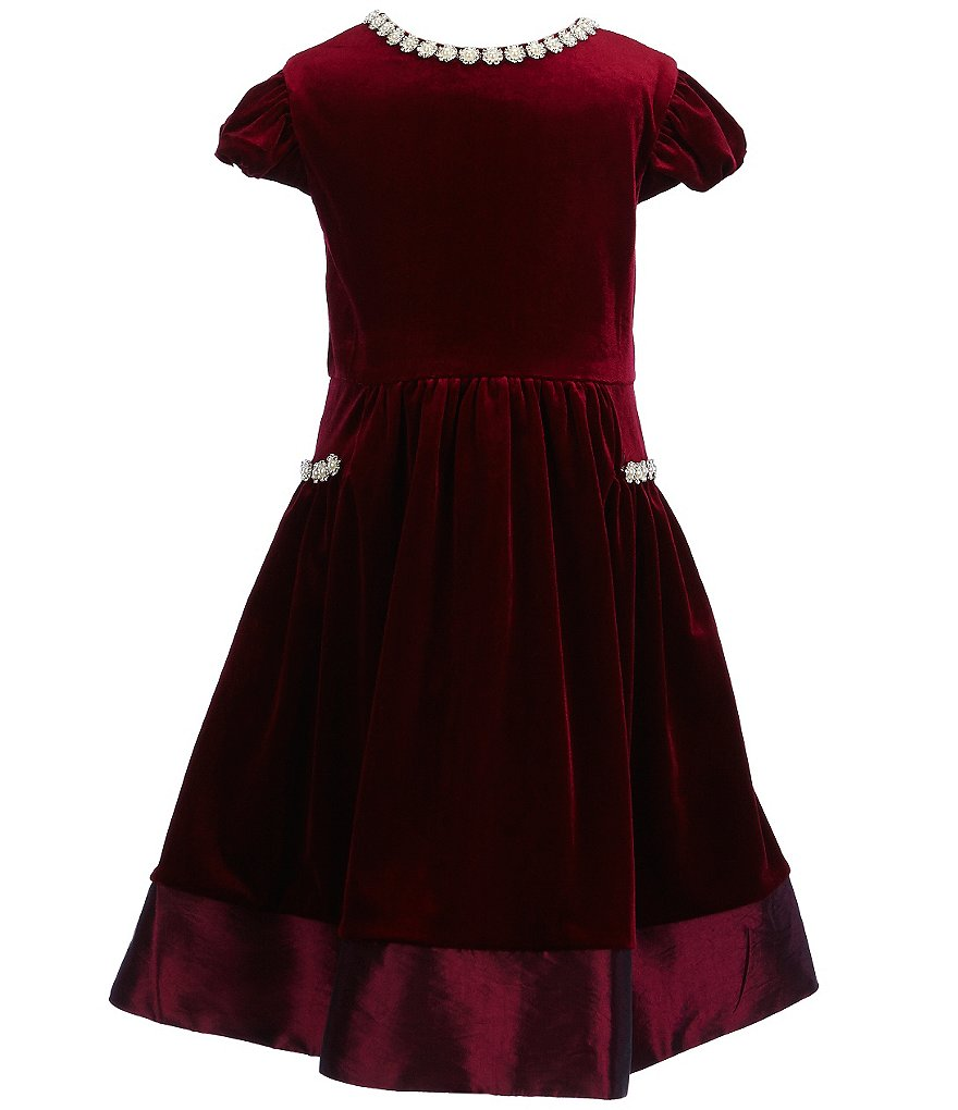 Rare Editions Little Girls 2T-6X Velvet Jeweled Dress