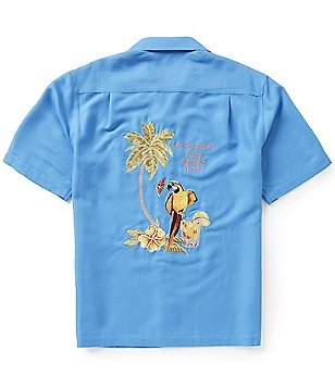 Caribbean Short-Sleeve Embroidery