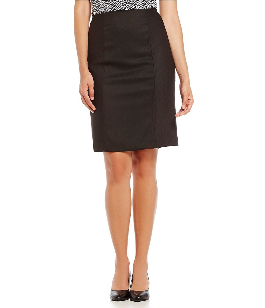 Alex Marie Aesthetic Allure Bea Herringbone Pencil Skirt