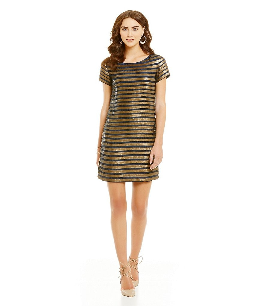 French Connection Serpent Sequin Dress
