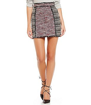 French Connection Pixel Mix Cotton Mini Skirt