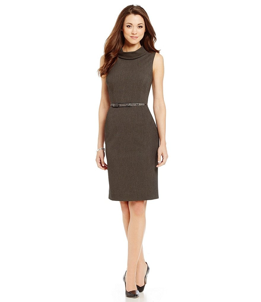 Antonio Melani Playing Favorites Flenn Cowl Neck Sheath Dress