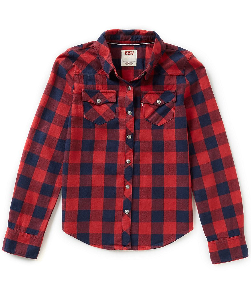 Levi's Big Girls 7-16 The Western Plaid Top