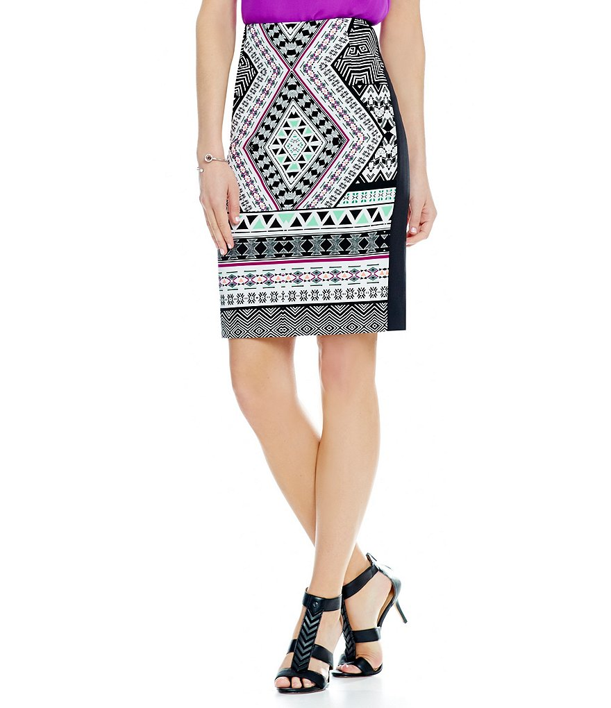 Antonio Melani Berkley Printed Scuba Pencil Skirt