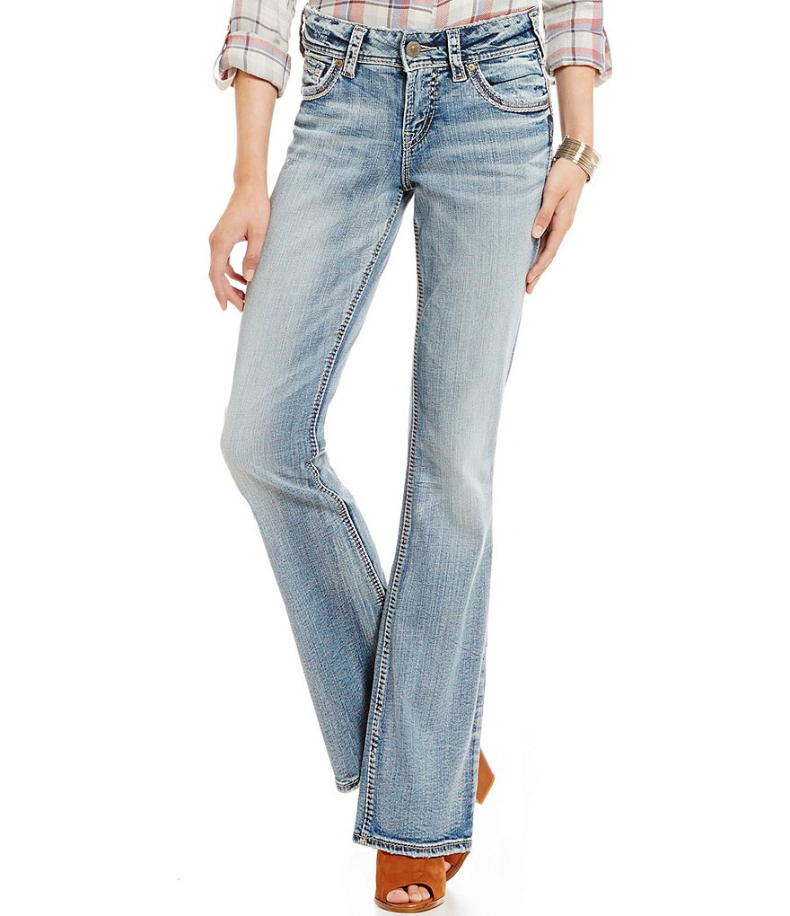Silver Jeans Co. Suki Destructed Bootcut Jeans
