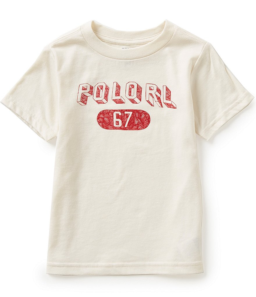 Ralph Lauren Childrenswear Little Boys 2T-7 Graphic Short-Sleeve Crewneck Tee