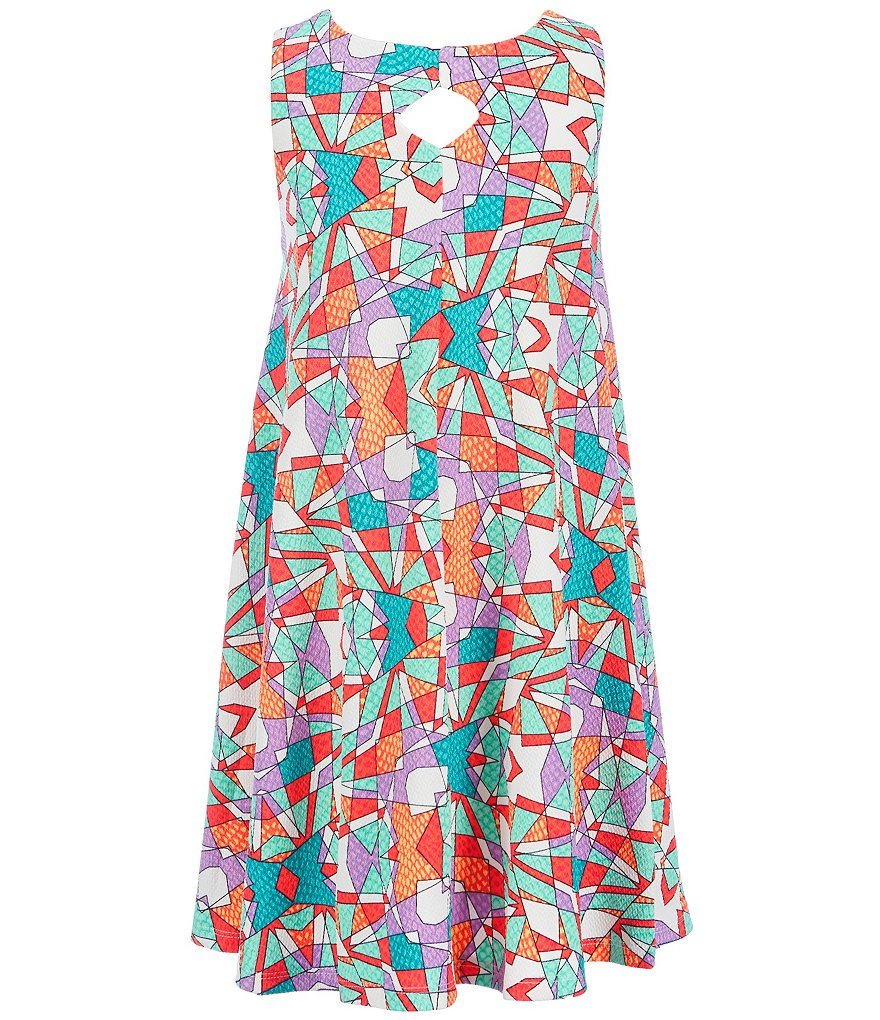 GB Girls Big Girls 7-16 Printed Trapeze Dress