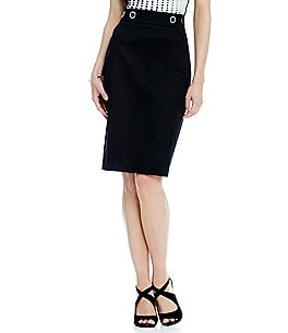 Antonio Melani Perla Cotton Pique Pencil Skirt Image