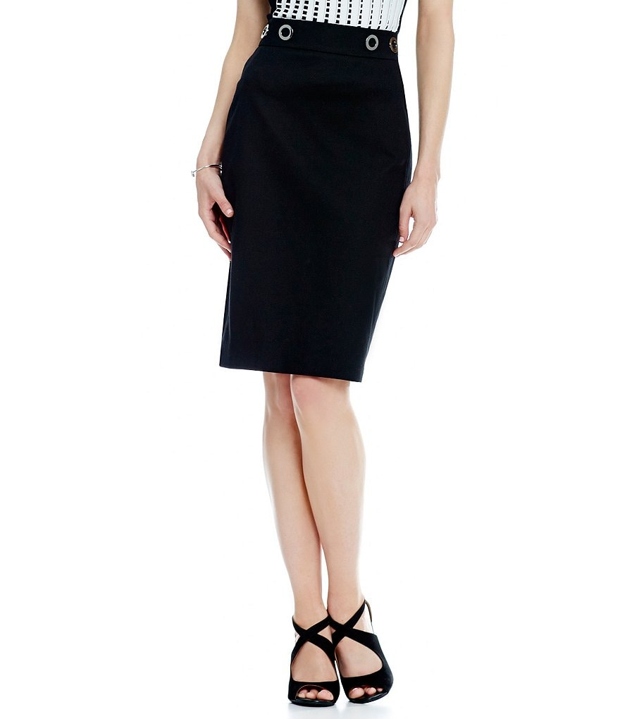Antonio Melani Perla Cotton Pique Pencil Skirt