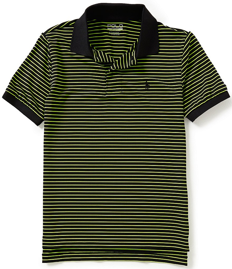Ralph Lauren Childrenswear Big Boys 8-20 Striped Short-Sleeve Knit Polo Shirt