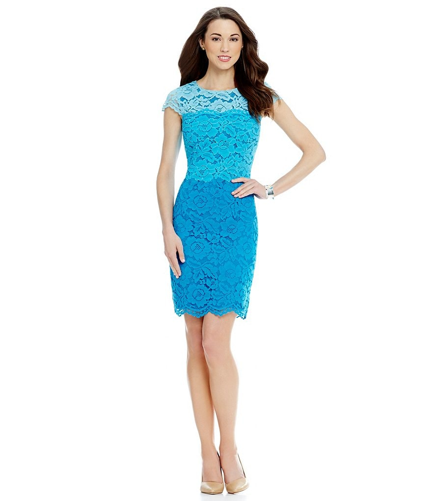 Antonio Melani Playing Favorites Kaylee Ombre Lace Dress