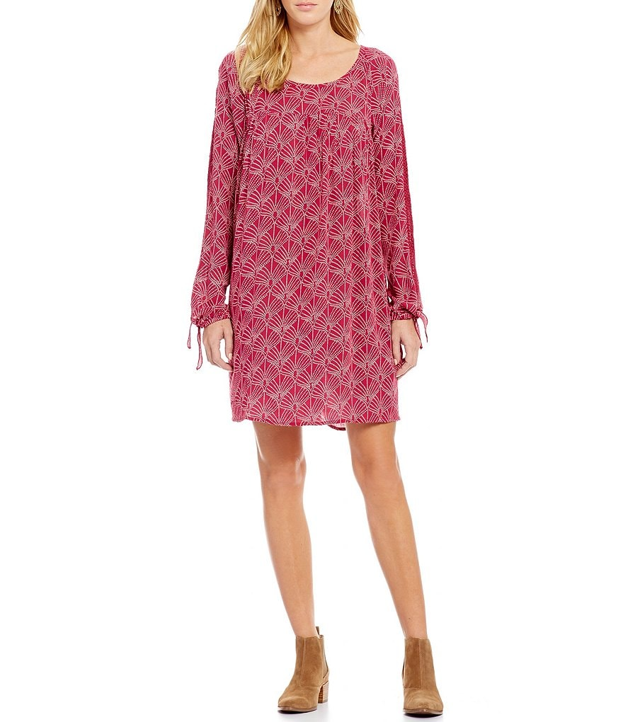 Roxy Definitely Maybe Printed Tie-Sleeve Shift Dress