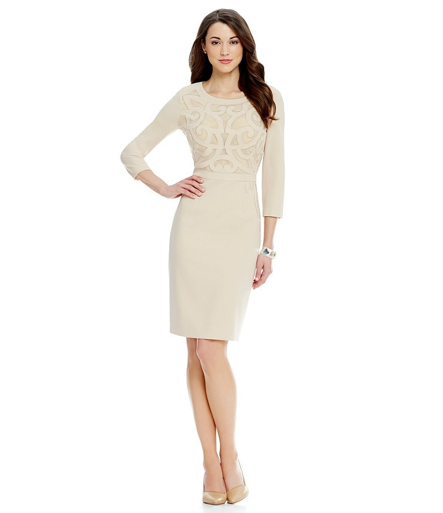 Antonio Melani Mariza Stretch Crepe Sheath Dress