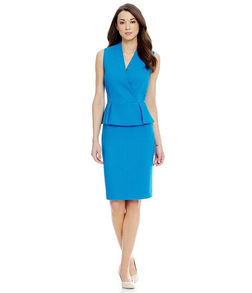 Antonio Melani Reed Stretch Woven Sheath Dress