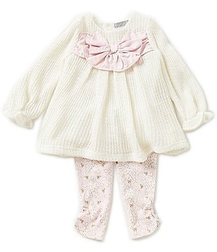Wendy Bellissimo Baby Girls 12-24 Months Bow-Front Blouse & Pants Set
