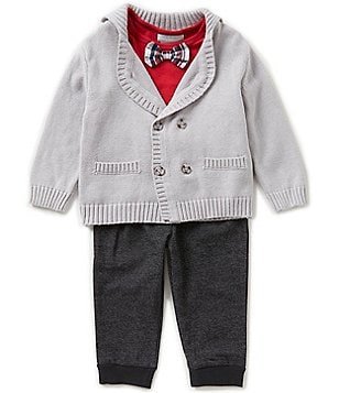 Wendy Bellissimo Baby Boys 12-24 Months Bow-Tie Shirt, Jacket, & Pants Set