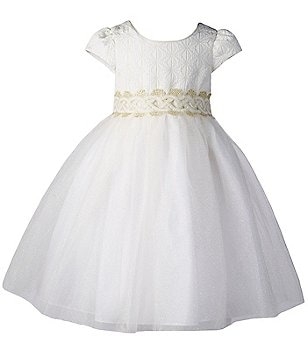 Pippa & Julie Little Girls 2T-6X Embroidered Tulle Dress