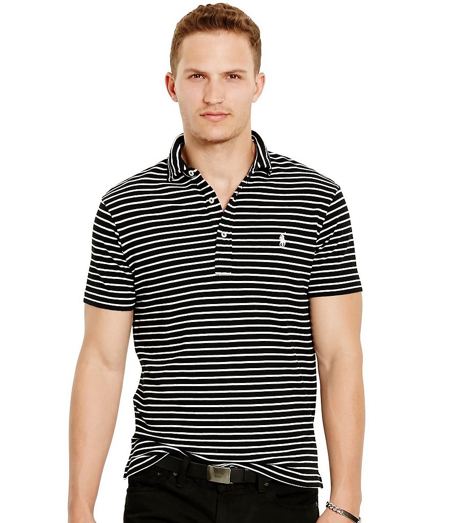 Polo Ralph Lauren Horizontal Striped Featherweight Polo Shirt