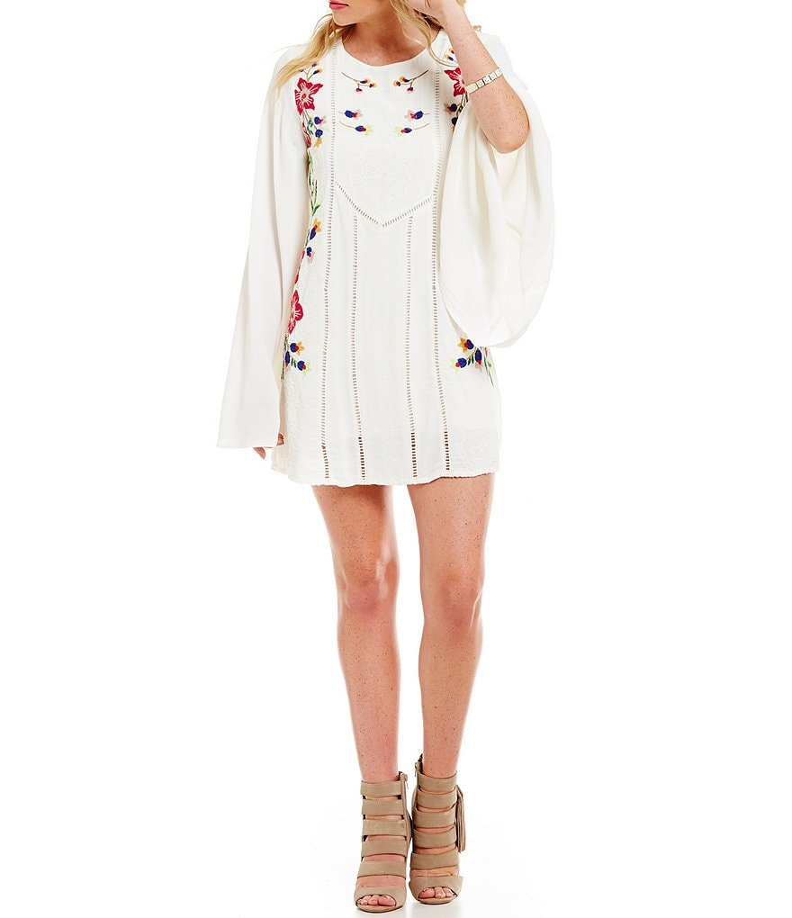 Guess Audrina Embroidered Cape Dress