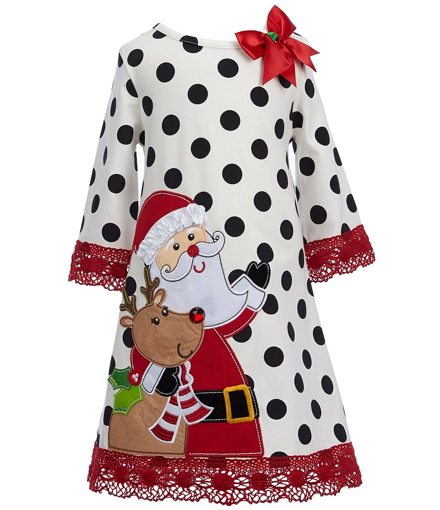 Counting Daisies Little Girls 2T-6X Christmas Santa Dress
