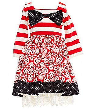 Counting Daisies Little Girls 2T-6X Mixed-Print Dress