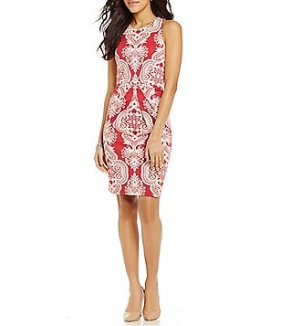 J.McLaughlin Mia Sleeveless Pleated Print Dress