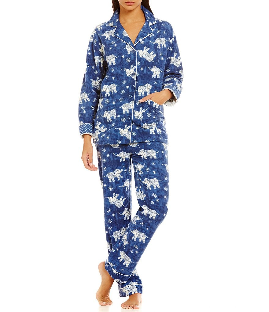 PJ Salvage Elephant Flannel Pajamas