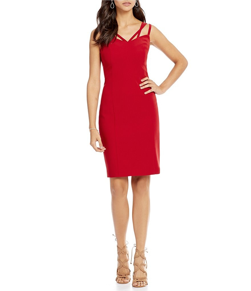 Laundry By Shelli Segal Spaghetti Strap Sheath Dress