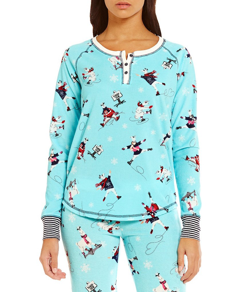 PJ Salvage Ice Ice Llama Thermal Sleep Top
