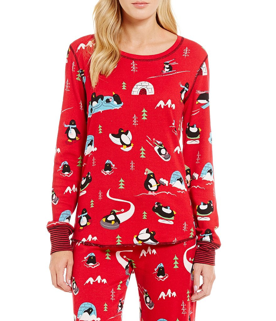 PJ Salvage Penguin Run Thermal Sleep Top