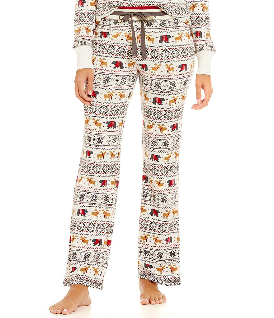 PJ Salvage Mountains Are Calling Fair Isle Thermal Sleep Pants