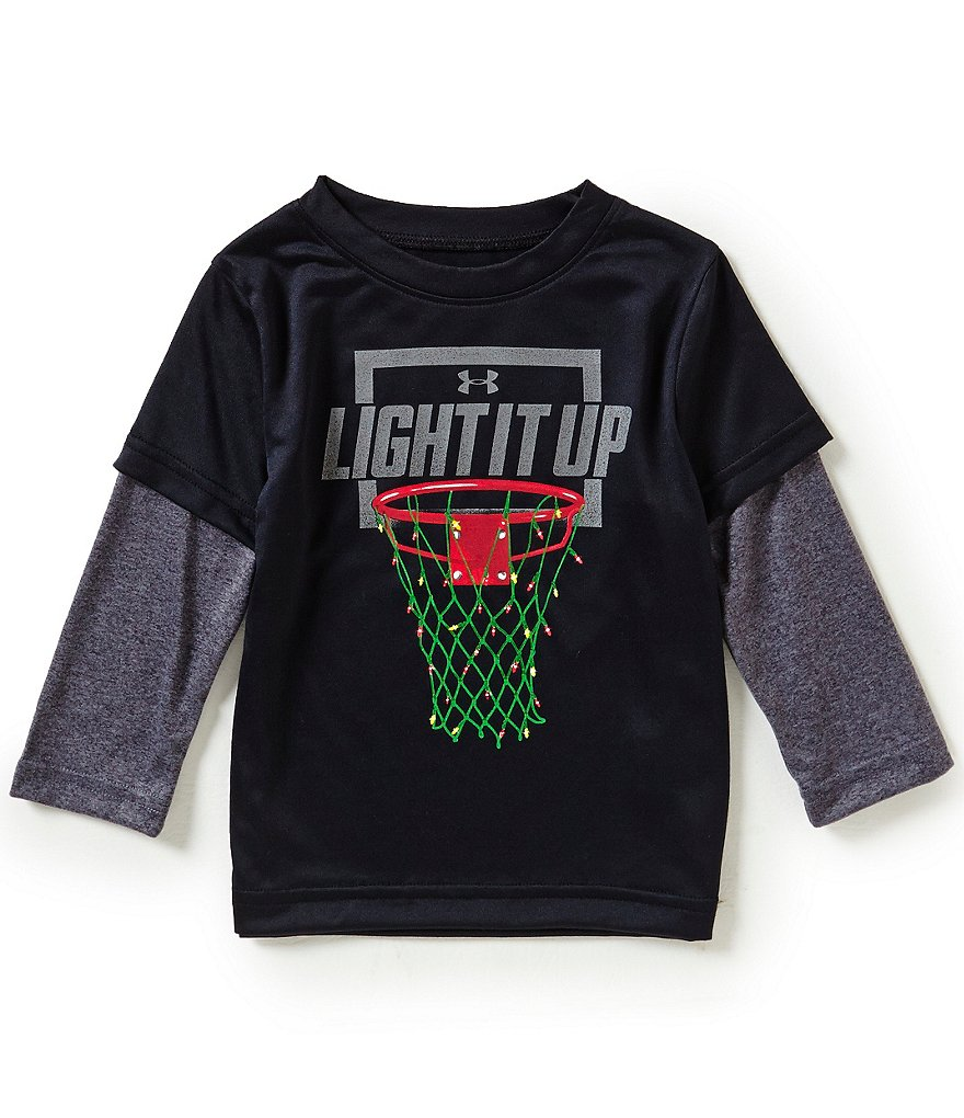 Under Armour Baby Boys 12-24 Months Christmas Light It Up Slider Tee