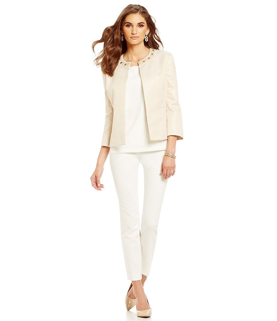 Preston & York Monica Jacquard Blazer Jacket & Riley Ankle Pant