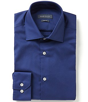 Perry Ellis Non-Iron Slim-Fit Comfort Spread-Collar Dress Shirt