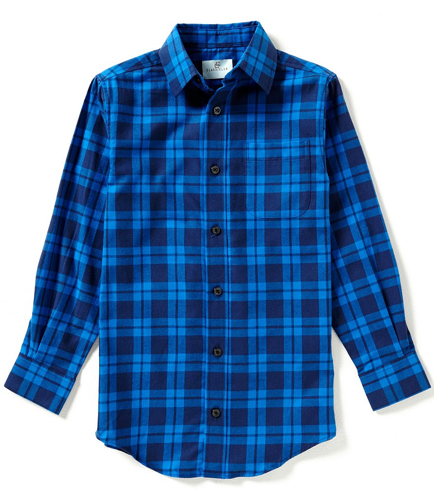 Class Club Big Boys 8-20 Plaid Woven Long-Sleeve Shirt