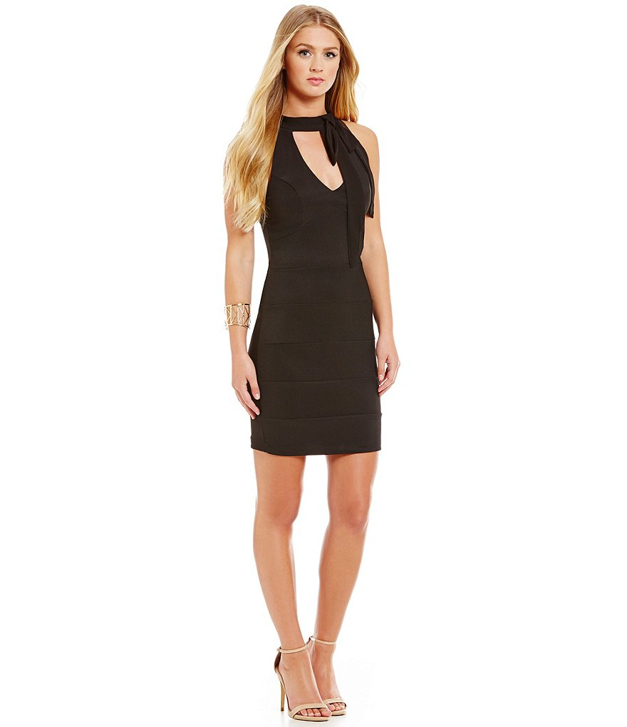 Honey and Rosie Tie-Neckline Sheath Dress