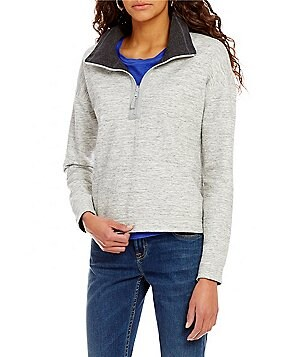 Tommy Bahama New Flip Side Cowl Neck Half Zip