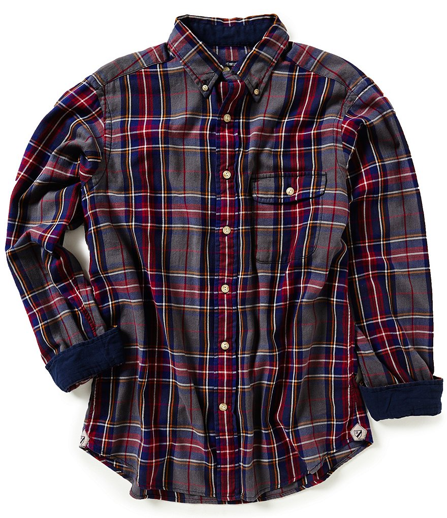 Cremieux Long-Sleeve Elbow Patch Plaid Vintage Twill Woven Shirt