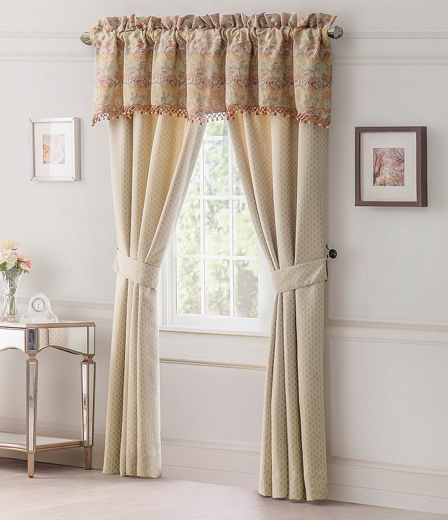 Waterford Cathryn Floral & Geometric Window Treatments