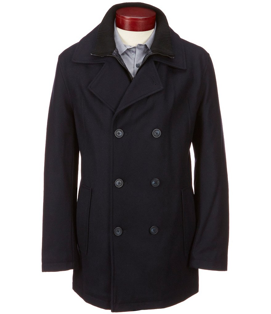 Marc New York Andrew Marc Cheshire Wool Peacoat